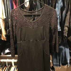 Free people black/lace dress size small